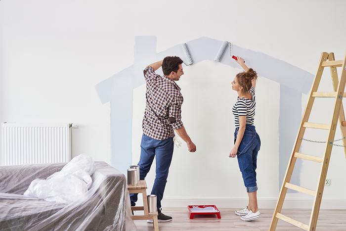 pinta las paredes de forma original